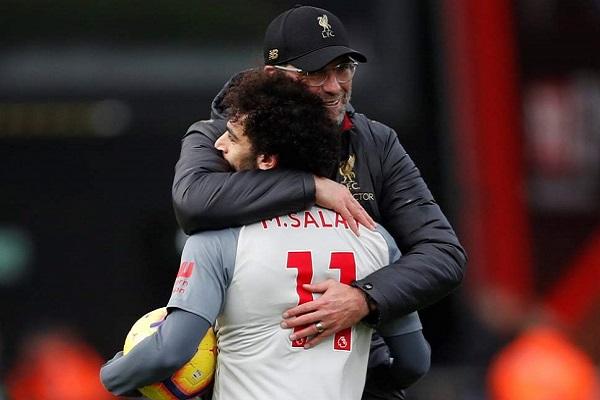 Klopp nói gì khi tiền đạo Mohamed Salah lập hattrick
