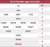 Dự đoán XSTN 21/1/2021 chốt cặp số vàng Tây Ninh hôm nay